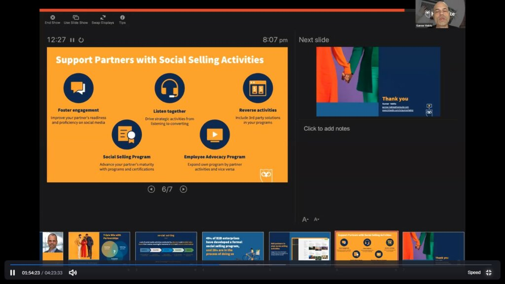 social selling activities